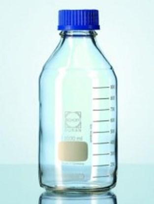 Slika za boca lab staklo + čep pp plavi 250ml gl45 graduirana