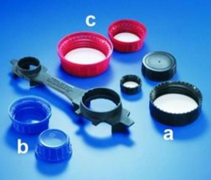 Slika za Caps for wide-mouth reagent bottles, PP (melamine*)
