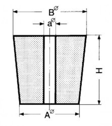 Slika za rubber stopper 17x22x25mm