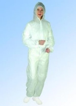 Slika za Disposable Protective Suits with Hood, PP