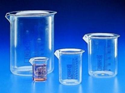 Slika za čaša pmp(tpx) niska 100ml graduirana plavim