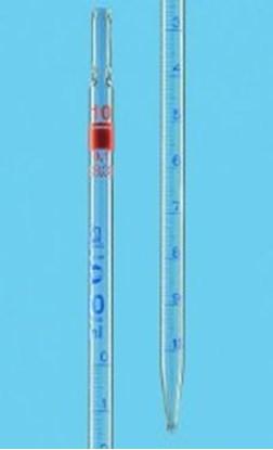 Slika za pipeta graduirana staklo 0,5ml: 0,01ml klasa as graduirana plavim