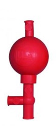 Slika za LLG-Safety pipette bulb, rubber, red
