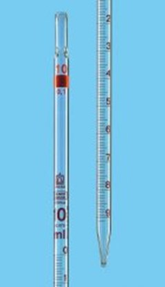 Slika za pipeta graduirana staklo 2ml: 0,02ml klasa b graduirana smeđim