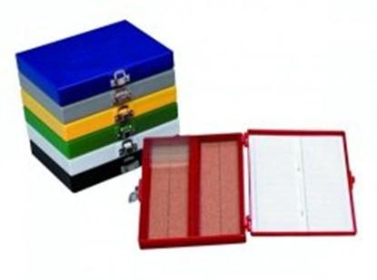 Slika za kutija za mikroskopska stakalca 25-mjesta plava