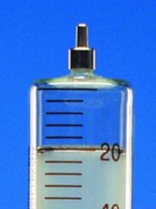 Slika za šprica staklo/staklo 2ml graduirana smeđim