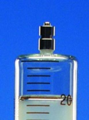 Slika za šprica staklo/staklo 5ml graduirana smeđim