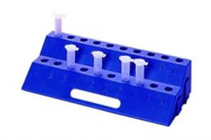 Slika za stalak pp za mikroepruvete 0,5/1,0/1,5/2,0ml 20-mjesta plavi