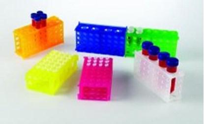 Slika za stalak pp za epruvete 15 i 50ml/mikroepruvete 0,5 i 1,5ml 4-strane plavi