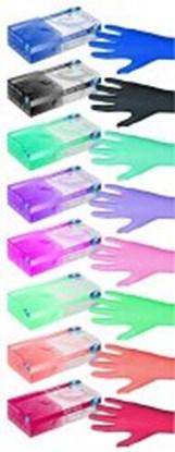 Slika za rukavice nitril bez pudera s 6-7 vel boja breskve peach pearl pk/100