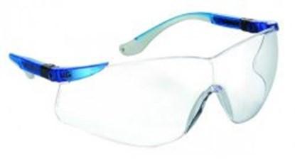 Slika za naočale zaštitne leće bistre/okvir plavo-srebrni