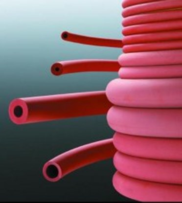 Slika za rubber vacuum tubing 6,00 x 4,00mm, red