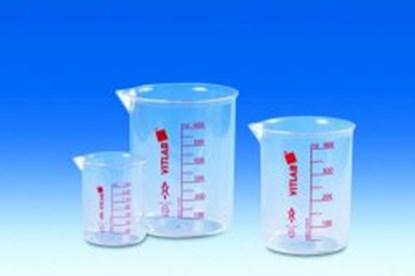 Slika za čaša pmp(tpx) kristal 1000ml graduirana crvenim