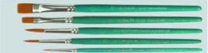 Slika za kistovi set od 5 kistova (okrugli/vel.0,4,6 i ravni/vel.6,10)