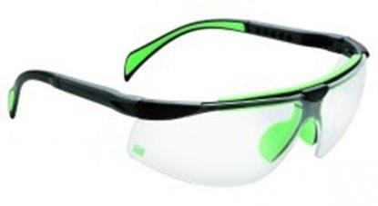 Slika za naočale zaštitne leće panoramske tamne/okvir crno-zeleni