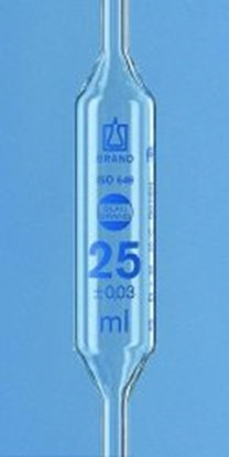 Slika za Volumetric pipettes, AR-glas<SUP>®</SUP>, class AS, 2 marks, blue graduation
