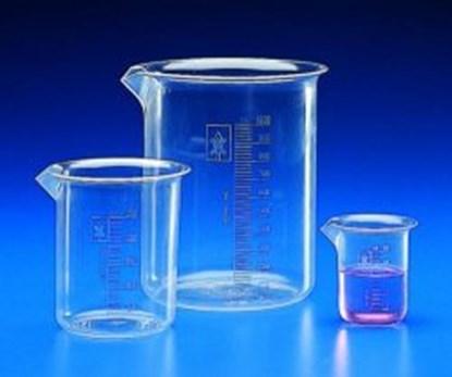 Slika za čaša pmp(tpx) niska 1000ml graduirana bijelim