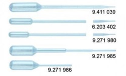 Slika za pipete pasteur peld 3ml graduirane pk/500