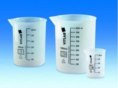 Slika za čaša etfe niska 50ml graduirana crnim