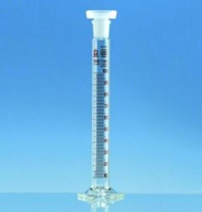 Slika za menzura za mućkanje staklo visoka 50ml graduirana smeđim klasa b + pp čep