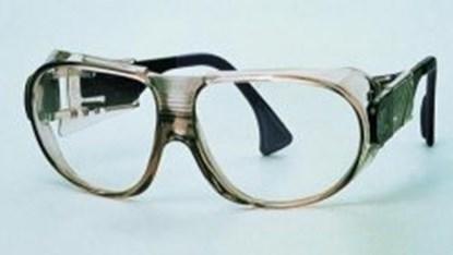 Slika za naočale zaštitne leće pc bistre/okvir smeđi