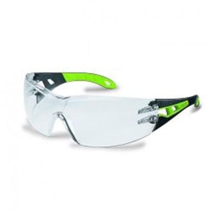 Slika za naočale zaštitne leće pc smeđe/okvir crno-žuti