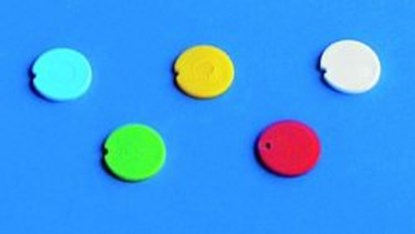 Slika za Colored cap inserts, PP, for reaction tubes