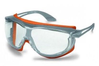 Slika za naočale zaštitne leće bistre/okvir sivo-narančasti