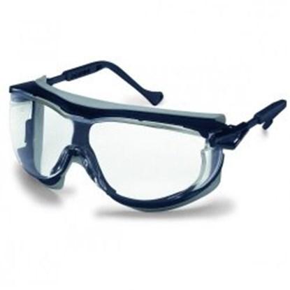 Slika za naočale zaštitne leće bistre/okvir plavo-sivi