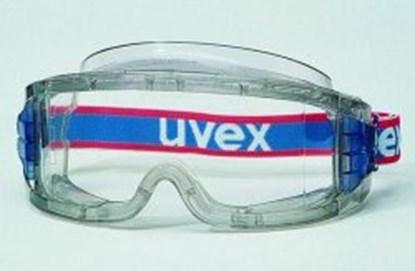 Slika za naočale zaštitne leće pc bistre/okvir prozirno sivi