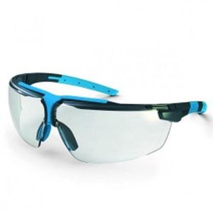 Slika za naočale zaštitne leće pc bistre/okvir crno-svijetlosiva
