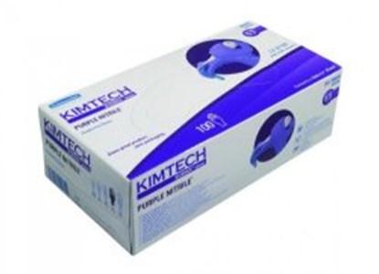 Slika za rukavice nitril bez pudera xs 5-6 vel ljubičaste 240mm purple nitrile pk/100