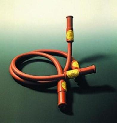 Slika za crijevo za plamenik dva ulaza 500 mm, smeđe