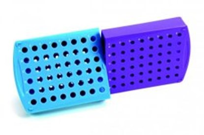 Slika za stalak pp za epruvete za pcr i centrifugu rotirajući plavi/ljubičasti