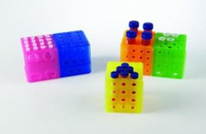 Slika za stalak pp za epruvete/mikroepruvete kocka 4-strane više boja pk/5