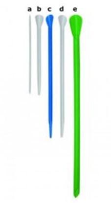 Slika za špatule za prah pp 310mm fi7mm makro zelene pk/150
