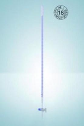 Slika za bireta ravni pipac bijela 50ml schellbach stakleni čep klasa as plava graduacija