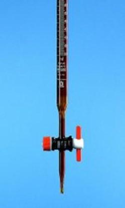Slika za bireta ravni pipac smeđa 25ml schellbach ptfe čep klasa b