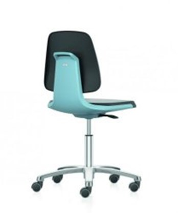 Slika za stolica pu pjena koža podizanje 450-650mm plava s kotačima