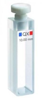 Slika za makrokiveta 110-qx 10mm kvarcno staklo suprasil 300 3500ul s ptfe čepom